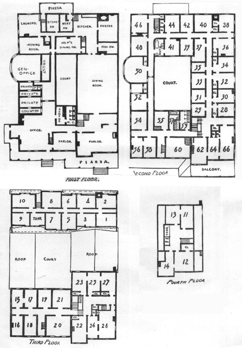 The mansion house at poland spring for Manor floor plans