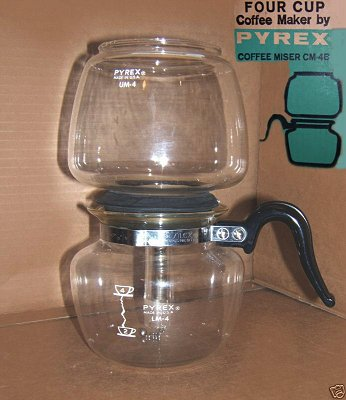 Pyrex Coffee Maker How To Use : Vacuum Coffee Pots: Manufacturers